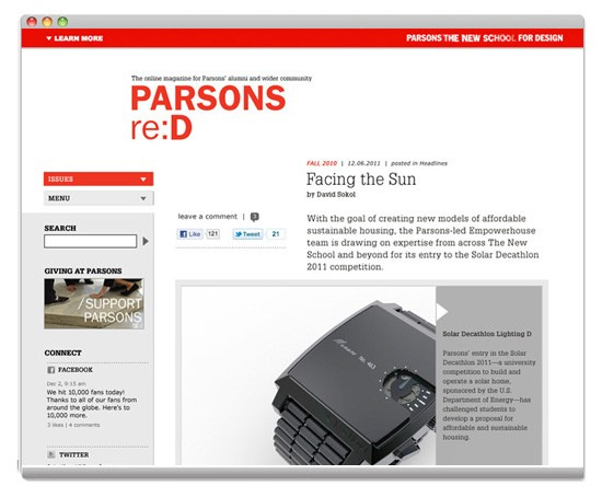parsons re:d magazine online